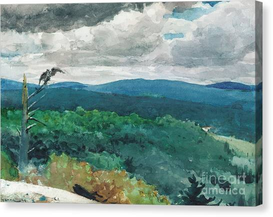 Hill Canvas Print - Hilly Landscape by Winslow Homer