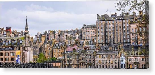 Hilly Skyline Of Edinburgh Canvas Print