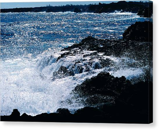 Hilo Coast Waves Canvas Print
