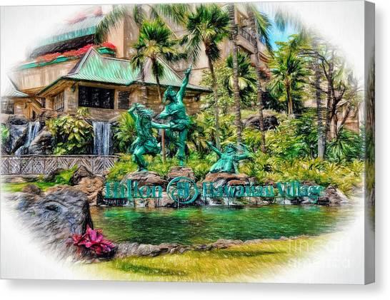 Hilton Hawaiian Village Waikiki Beach Resort Canvas Print