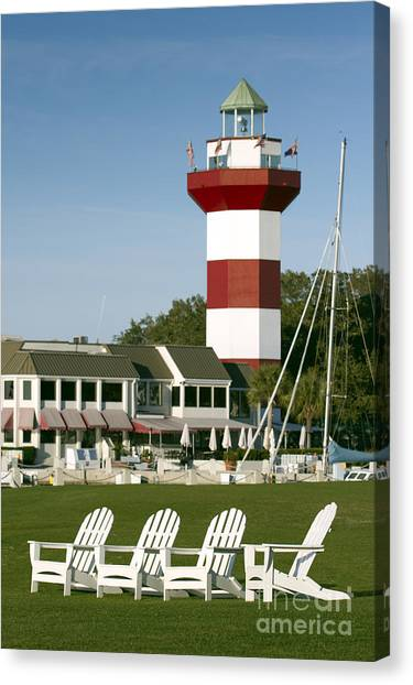 Golf Course Canvas Print - Hilton Head Island Lighthouse by Dustin K Ryan