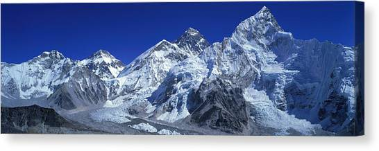 Mount Everest Canvas Print - Himalaya Mountains, Nepal by Panoramic Images
