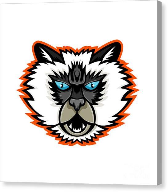 Himalayan Cats Canvas Print - Himalayan Cat Mascot by Aloysius Patrimonio