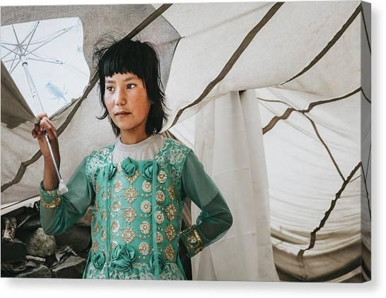 Himalayan Girl Canvas Print
