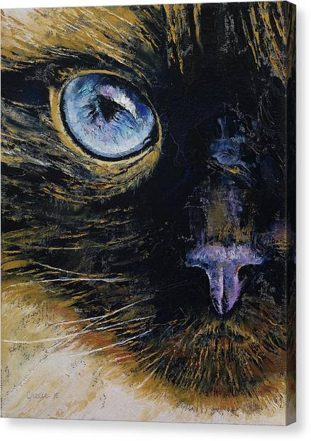 Himalayan Cats Canvas Print - Burmese Cat by Michael Creese