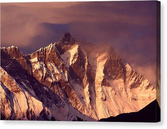 Himalayas Canvas Print - Himalayas At Sunset by Pal Teravagimov Photography