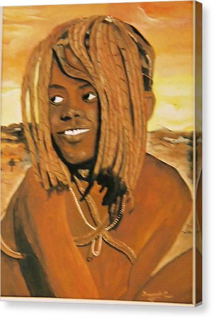 Himba Girl Canvas Print by Desenclos Patrick
