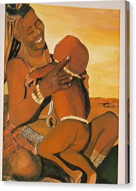 Himba Mom Canvas Print by Desenclos Patrick