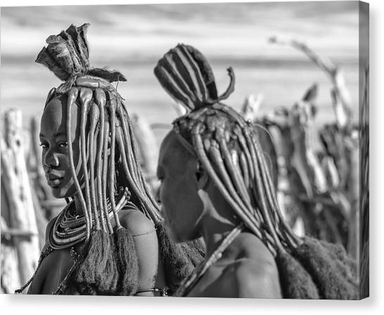 Canvas Print featuring the photograph Himba Portrait 1 by Rand