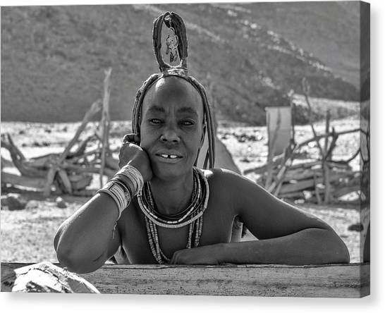 Canvas Print featuring the photograph Himba Portrait 2 by Rand