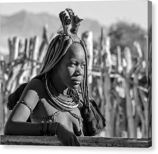 Canvas Print featuring the photograph Himba Portrait by Rand
