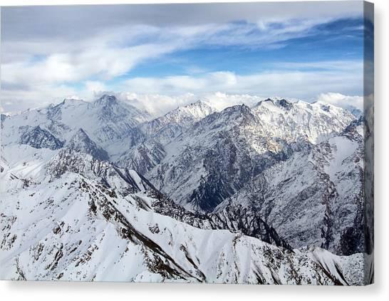 Hindu Kush Canvas Print - Hindu Kush Snowy Landscape by SR Green