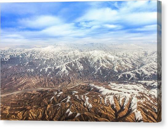 Hindu Kush Snowy Peaks Canvas Print