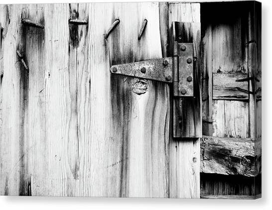 Hinged In Black And White Canvas Print