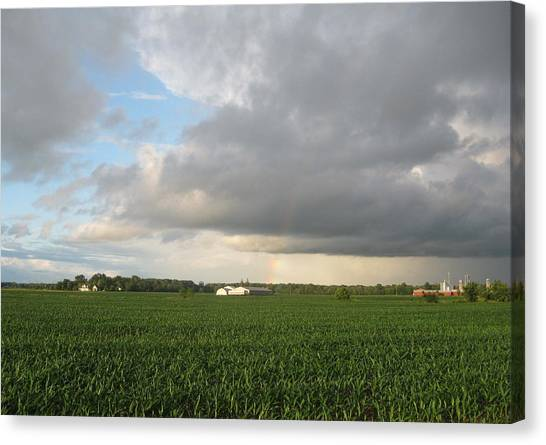 Hint Of A Rainbow Canvas Print by Patrick Murphy