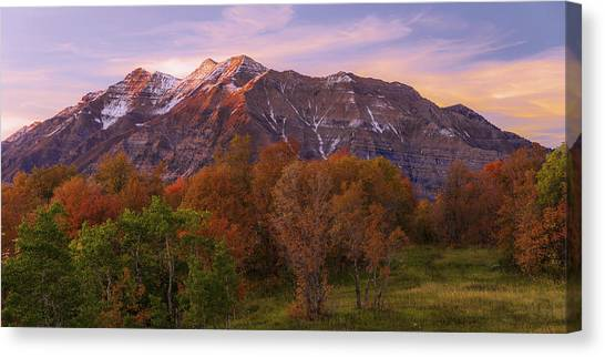 Mountainscape Canvas Print - Hint Of Fall by Chad Dutson
