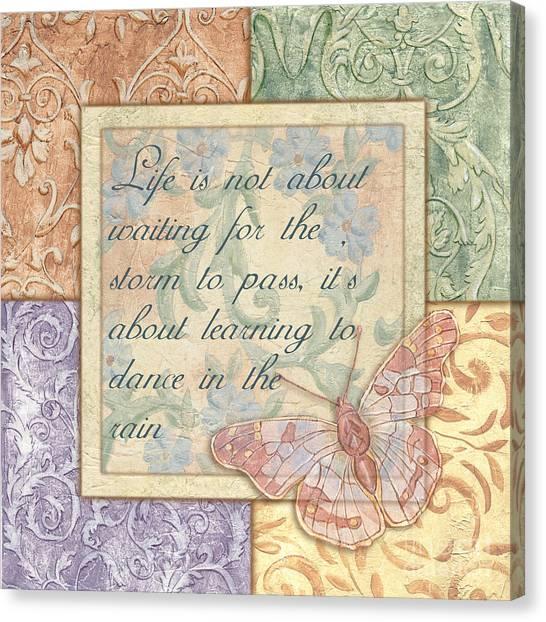 Lavendar Canvas Print - Hint Of Spring Butterfly 2 by Debbie DeWitt