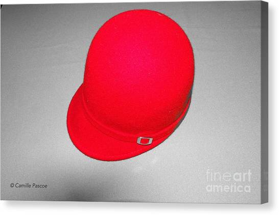 Hints Of Red - Hat Canvas Print
