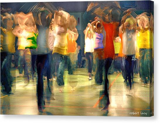 Hip Hop Canvas Print - Hip Hop Dance Night by Robert Lacy