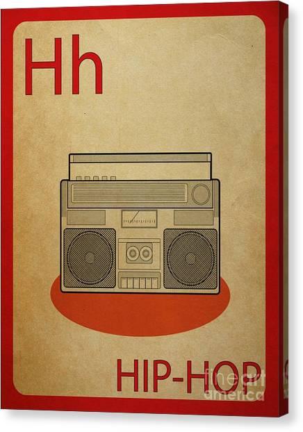 Hip Hop Vintage Flashcard Canvas Print by Mynameisjz JZ
