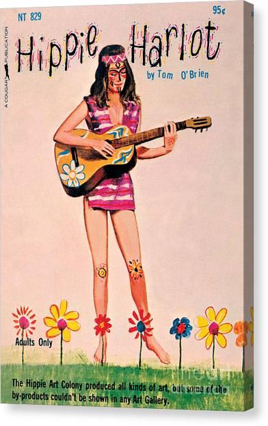 Hippie Harlot Canvas Print