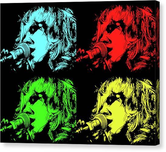 Hippie Memories Pop Art Canvas Print