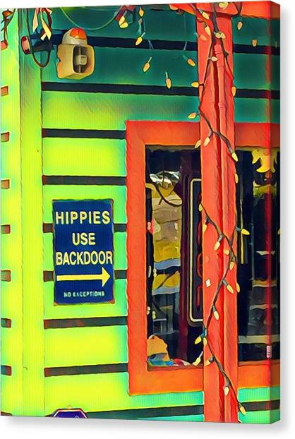 Hippies Use Backdoor Canvas Print