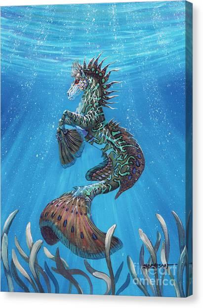 Seahorses Canvas Print - Hippocampus by Stanley Morrison