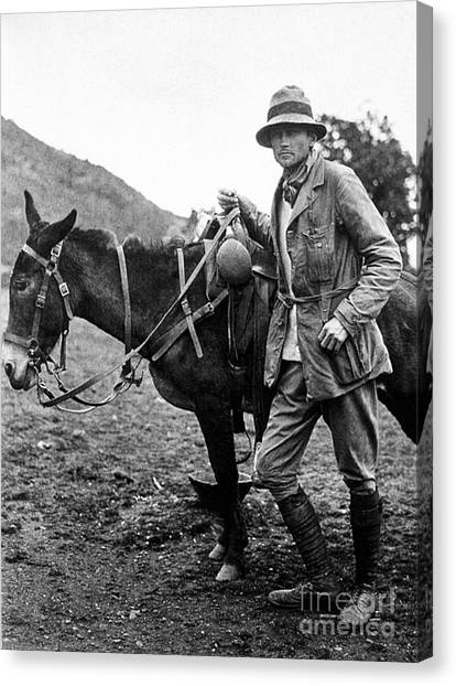 Yale University Canvas Print - Hiram Bingham (1875-1956) by Granger