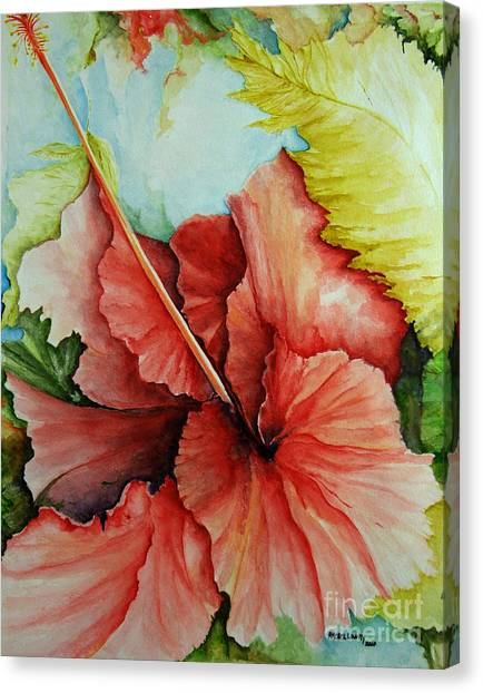 Hiroko's Hibiscus 2 Canvas Print