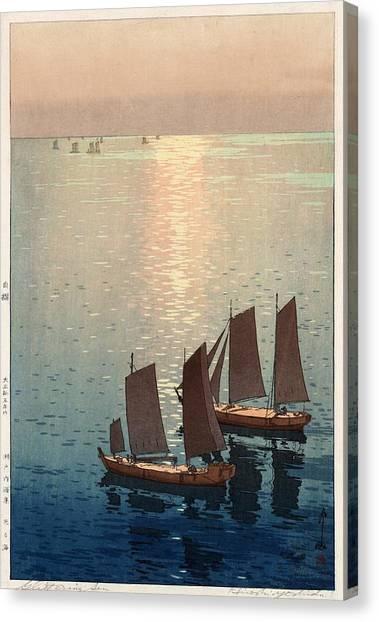 Hiroshi Yoshida, Hikaru Umi, The Sparkling Sea, 1926 Canvas Print