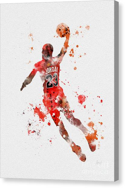 Slam Dunk Canvas Print - His Airness by Rebecca Jenkins