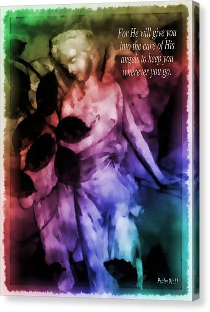 His Angels 2 Canvas Print