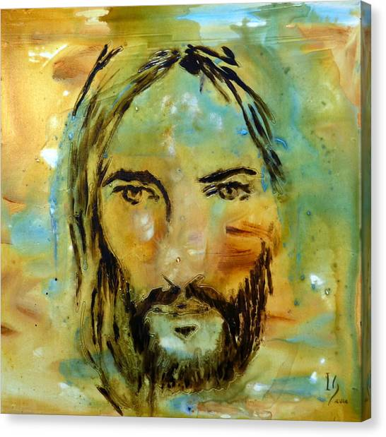Messiah Canvas Print - His Face by Ivan Guaderrama