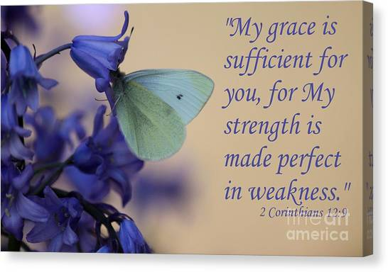 His Grace Is Sufficient Canvas Print