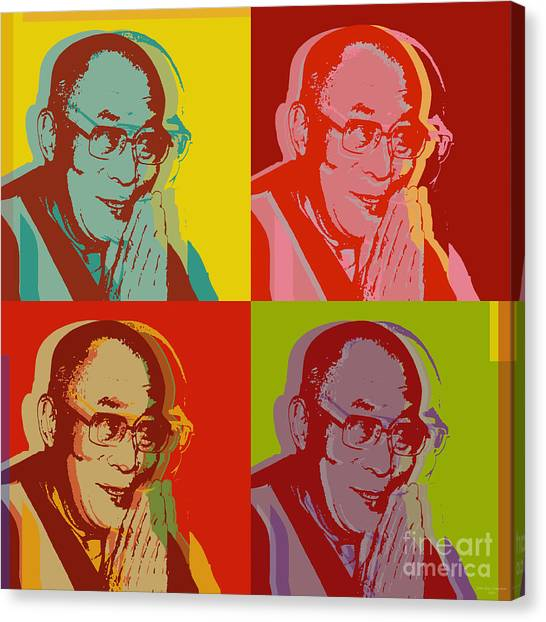 His Holiness The Dalai Lama Of Tibet Canvas Print