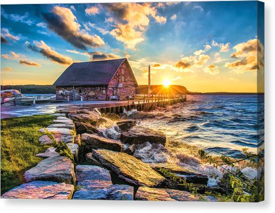 Historic Anderson Dock In Ephraim Door County Canvas Print