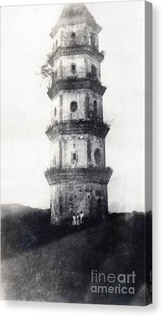 19th Century Canvas Print - Historic Asian Tower Building by Jorgo Photography - Wall Art Gallery