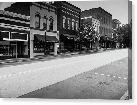 Canvas Print featuring the photograph Historic Buford Downtown Area by Doug Camara