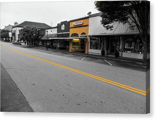 Canvas Print featuring the photograph Historic Buford In Selective Color by Doug Camara