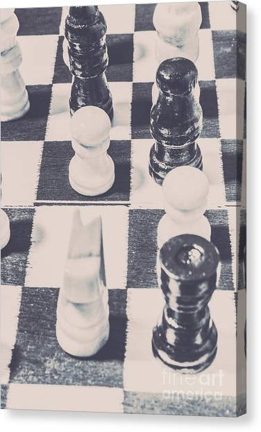 Ancient Art Canvas Print - Historic Chess Nostalgia by Jorgo Photography - Wall Art Gallery