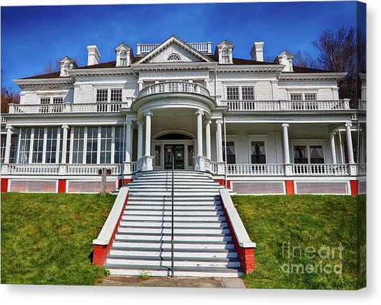 Moses Cone Canvas Print - Historic Cone Manor Blue Ridge Parkway by Dan Carmichael