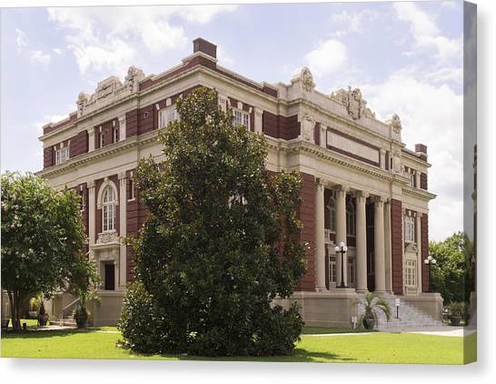 Historic Dillon County Sc Courthouse Canvas Print