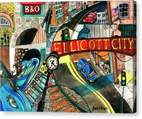 Historic Ellicott City Steam And Stone Canvas Print