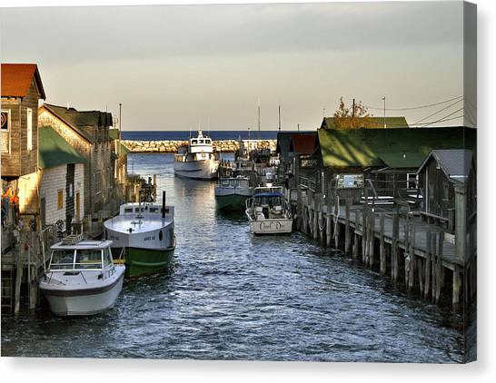 Historic Fishtown Docks Canvas Print