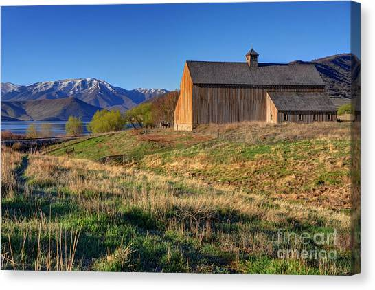 Historic Francis Tate Barn - Wasatch Mountains Canvas Print