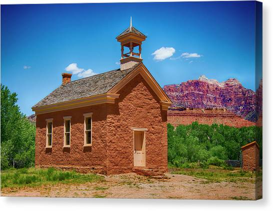 Brigham Young Byu Canvas Print - Historic Grafton Church by Jennifer Stackpole
