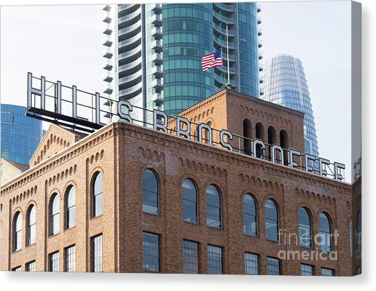 Historic Hills Brothers Coffee Building With Sign San Francisco Dsc5745 Canvas Print