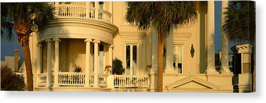 Palm Trees Sunsets Canvas Print - Historic Home On Battery Street by Panoramic Images