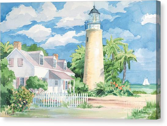 Lighthouses Canvas Print - Historic Key West Lighthouse by Paul Brent